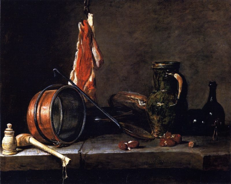 The Meat Day Meal | Jean Baptiste Simeon Chardin | oil painting