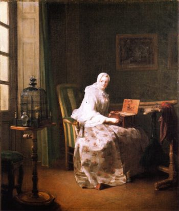 The Serinette | Jean Baptiste Simeon Chardin | oil painting