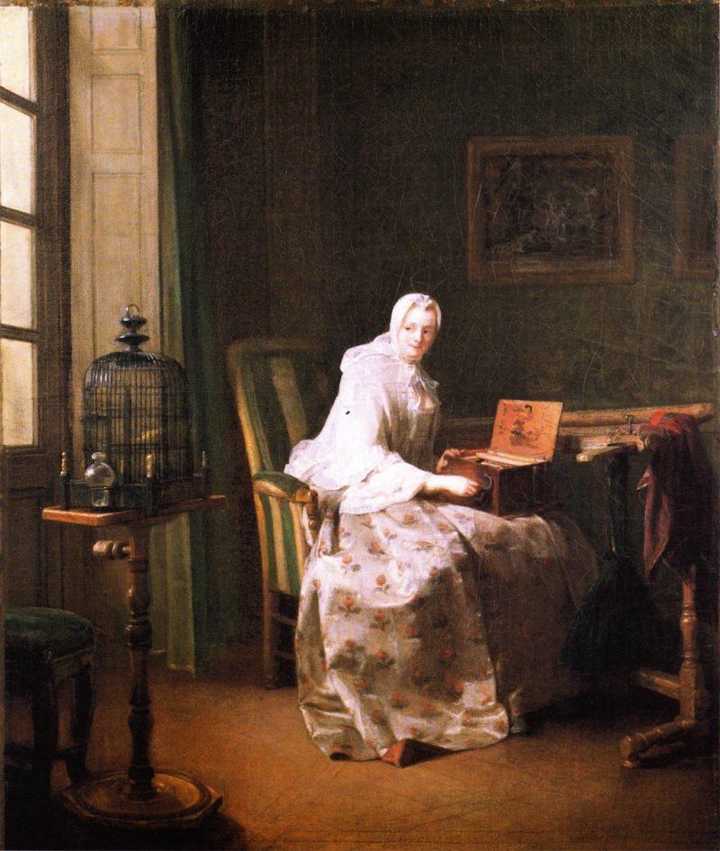 The Serinette | Jean Baptiste Simeon Chardin | oil painting