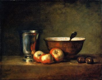 The Silver Goblet and Knife | Jean Baptiste Simeon Chardin | oil painting