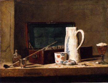 The Smokers Case | Jean Baptiste Simeon Chardin | oil painting