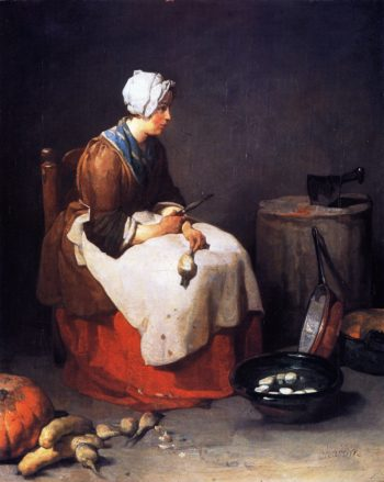 The Turnip Peeler | Jean Baptiste Simeon Chardin | oil painting