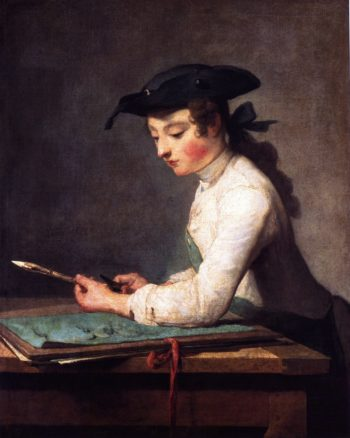 The Young Draughtsman | Jean Baptiste Simeon Chardin | oil painting