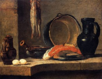 Still Life with Herrings | Jean Baptiste Simeon Chardin | oil painting