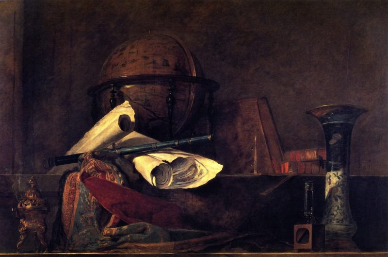 The Attributes of Science | Jean Baptiste Simeon Chardin | oil painting