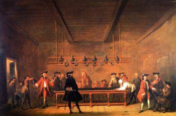 The Billiard Game   Jean Baptiste Simeon Chardin   oil painting