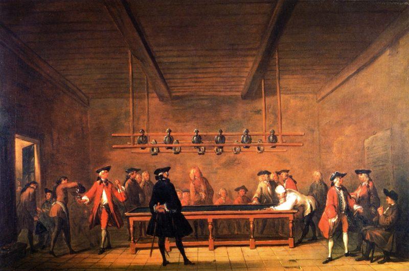The Billiard Game | Jean Baptiste Simeon Chardin | oil painting