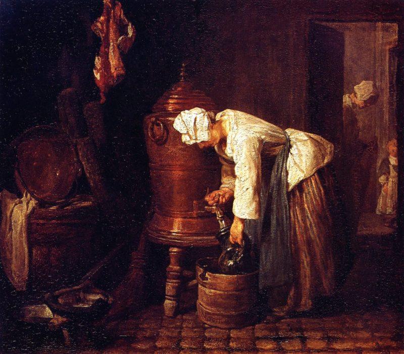 Woman at the Cistern | Jean Baptiste Simeon Chardin | oil painting