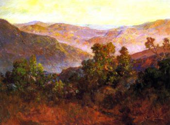 The Foothills of California Tejon Ranch   John Bond Francisco   oil painting
