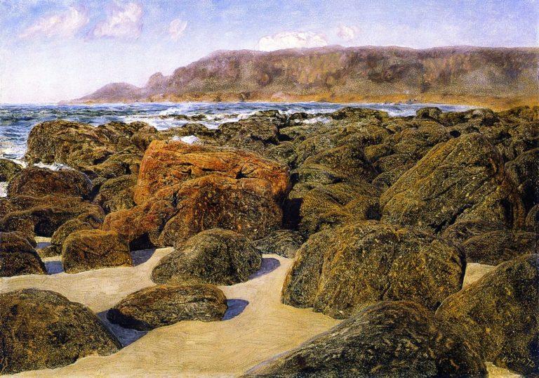Cape Cornwall from Whitesand Bay | John Edward Brett | oil painting