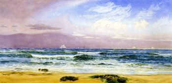 Shipping off the Coast | John Edward Brett | oil painting