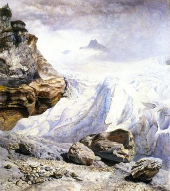 The Glacier of rosenlaui | John Edward Brett | oil painting