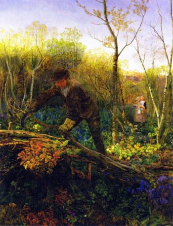 The Hedger | John Edward Brett | oil painting