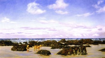 View on the Beach at St Agnes | John Edward Brett | oil painting