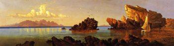 Cliff at Promotory Great Salt Lake Utah | Alfred Lambourne | oil painting