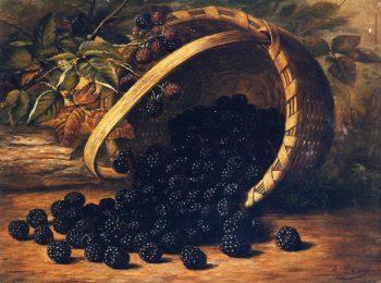 Blackberries in a Basket | August Laux | oil painting