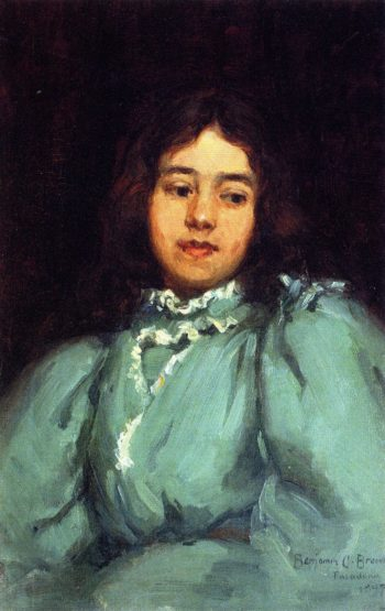 Eleanora Muse in Blue Dress | Benjamin Chambers Brown | oil painting