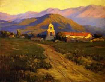 Sunrise Mission at Pala near San Luis Rey | Benjamin Chambers Brown | oil painting