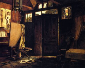 Interior of Wards Studio | Charles Ward | oil painting