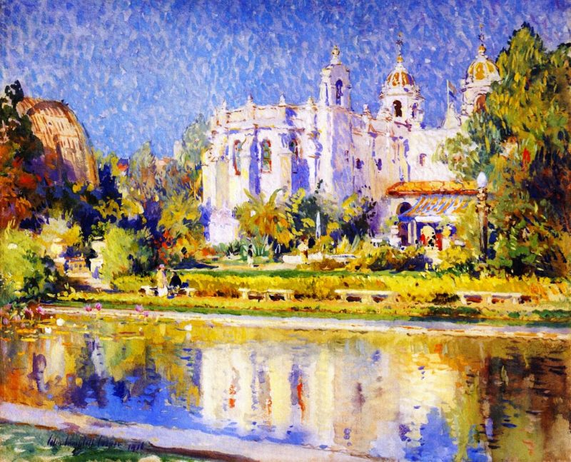 Balboa Park Varied Industries Building   Colin Campbell Cooper   oil painting