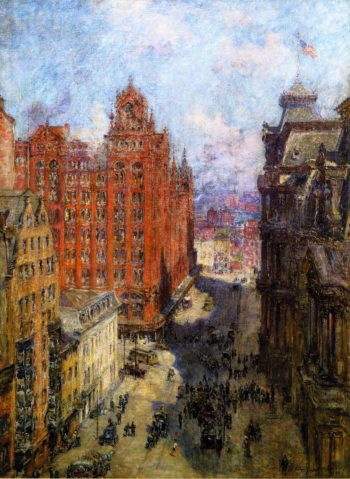Broad Street Station Philadelphia | Colin Campbell Cooper | oil painting