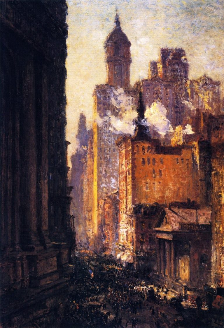 Broadway from the Post Office | Colin Campbell Cooper | oil painting