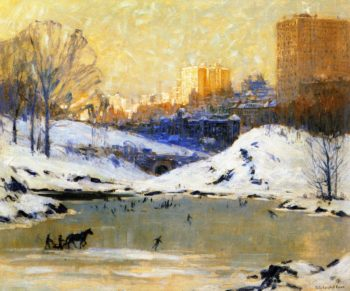 Central Park in Winter | Colin Campbell Cooper | oil painting