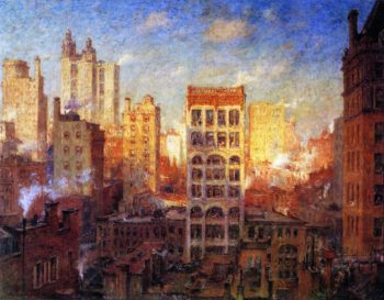 Cliffs of Manhattan | Colin Campbell Cooper | oil painting