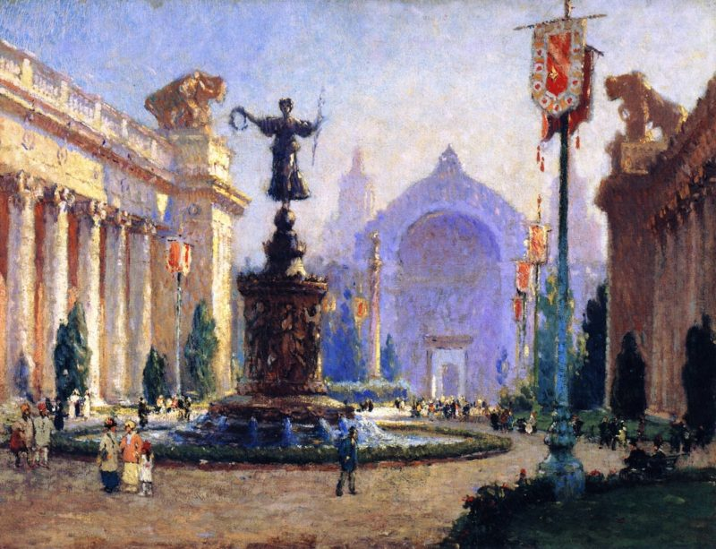Court of the Four Seasons | Colin Campbell Cooper | oil painting