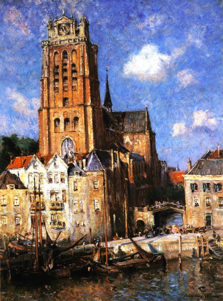 Dordrecht Hartor | Colin Campbell Cooper | oil painting