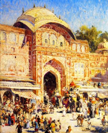 Entrance to the Maharajas Palace | Colin Campbell Cooper | oil painting