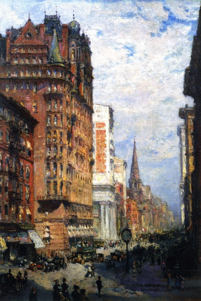 Fifth Avenue New York City | Colin Campbell Cooper | oil painting