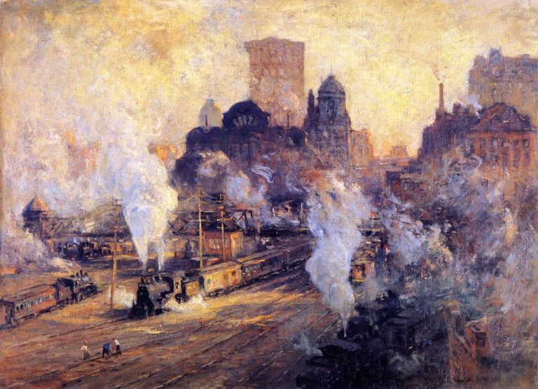 Grand Central Station | Colin Campbell Cooper | oil painting