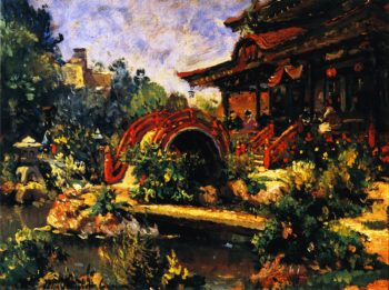 Japanese Tea Garden | Colin Campbell Cooper | oil painting