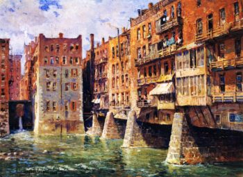 Main Street Bridge Rochester | Colin Campbell Cooper | oil painting