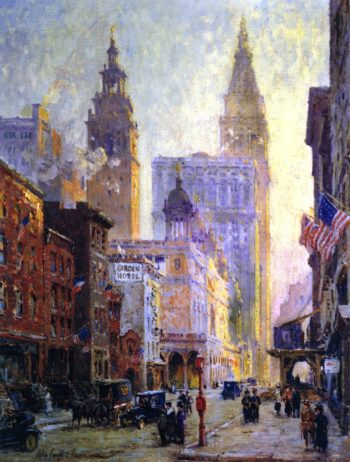 Metropolitan Tower New York City | Colin Campbell Cooper | oil painting