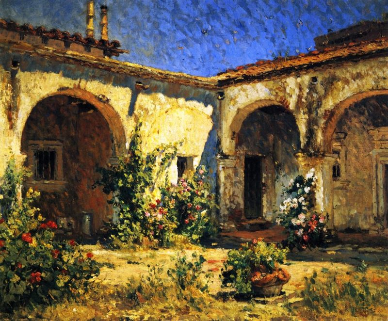Mission Courtyard | Colin Campbell Cooper | oil painting