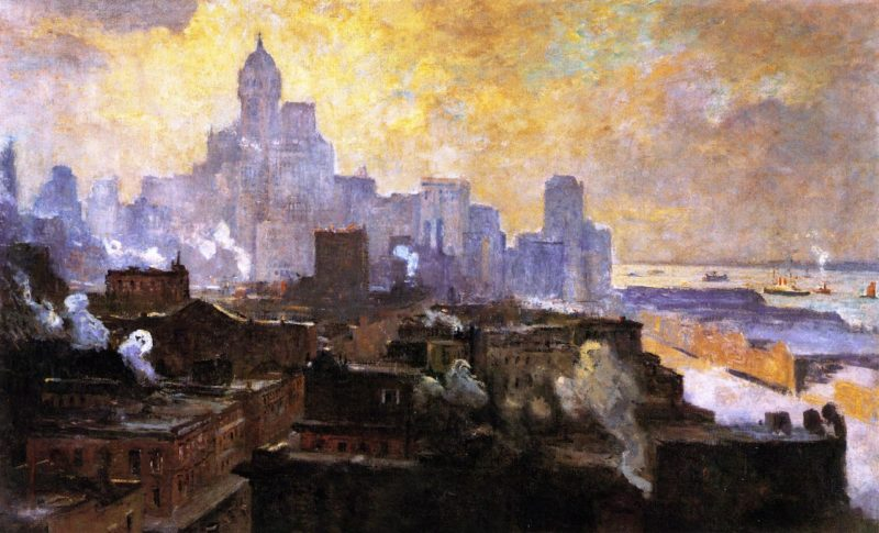 Mountains of Manhattan | Colin Campbell Cooper | oil painting