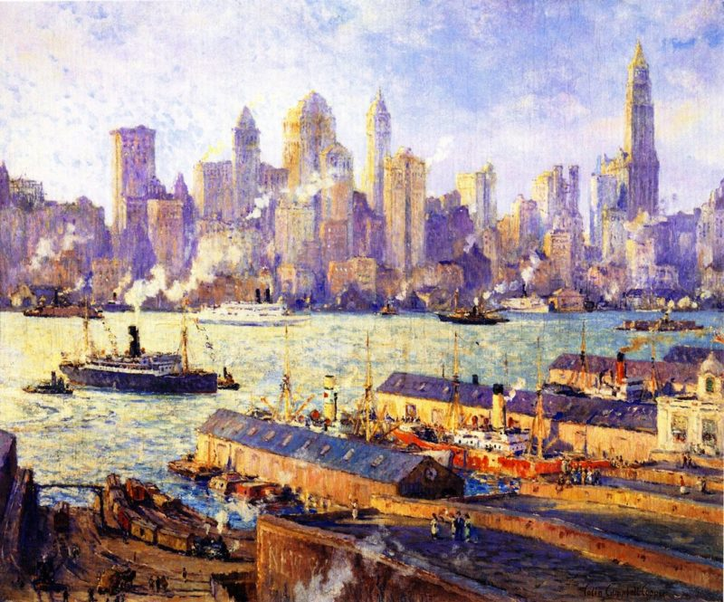New York from Brooklyn | Colin Campbell Cooper | oil painting