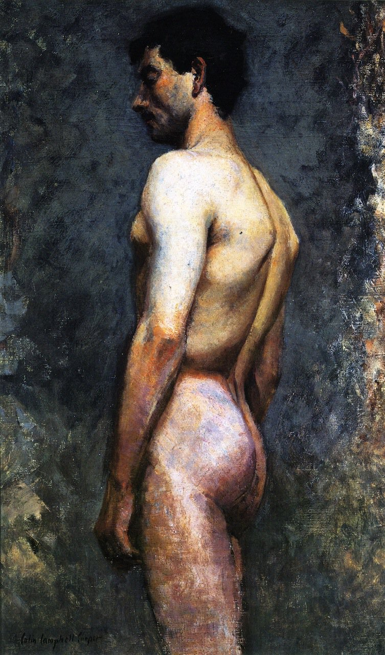 Nude Male Study | Colin Campbell Cooper | oil painting
