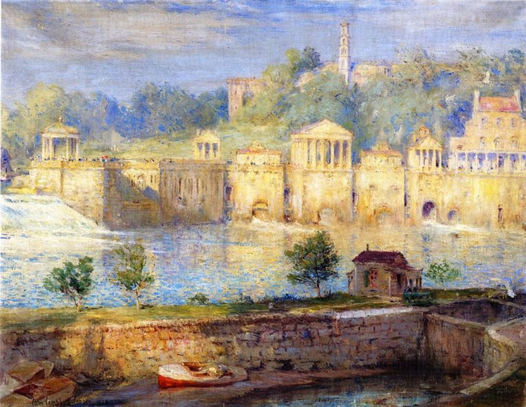 Old Waterworks Fairmount | Colin Campbell Cooper | oil painting
