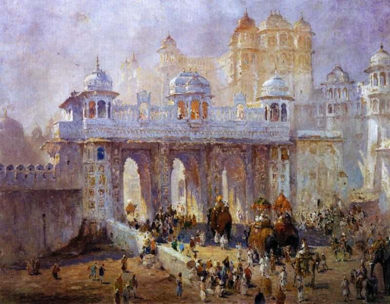 Palace Gate Udaipur India | Colin Campbell Cooper | oil painting