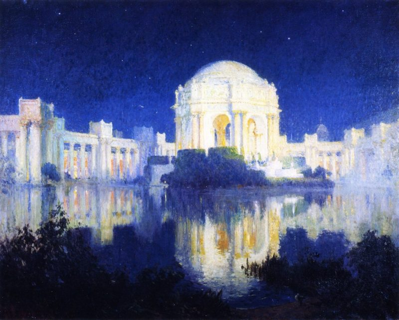 Palace of Fine Arts San Francisco   Colin Campbell Cooper   oil painting