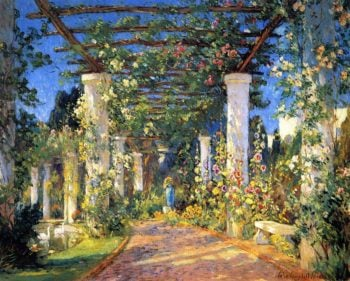 Pergola at the Hotel Samarkand Santa Barbara | Colin Campbell Cooper | oil painting