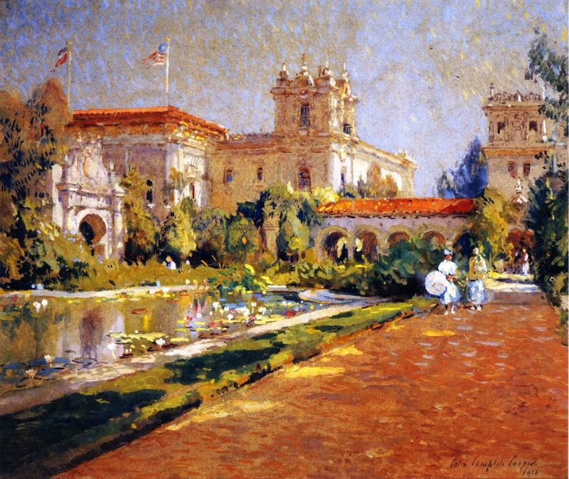 Poll and Canadian Building   Colin Campbell Cooper   oil painting