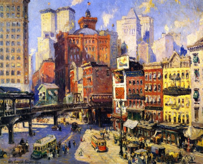 South Ferry New York | Colin Campbell Cooper | oil painting