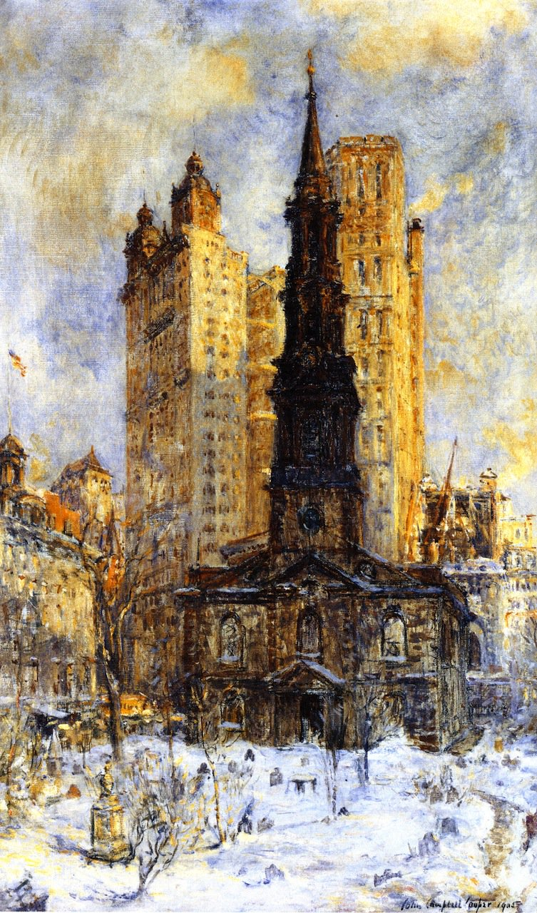 St Pauls Chapel | Colin Campbell Cooper | oil painting