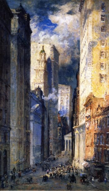 The Financial District | Colin Campbell Cooper | oil painting
