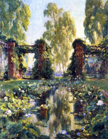 The Lotus Pond El Encanto Santa Barbara | Colin Campbell Cooper | oil painting