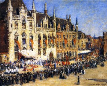 The Pageant at Bruges | Colin Campbell Cooper | oil painting